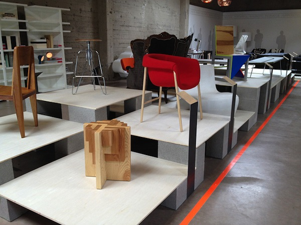 JLD Parquet Table/Stool In DESIGN/MAKE: Furniture From The Bay Exhibit
